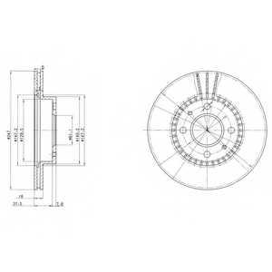 Тормозной диск DELPHI BG3134 - изображение