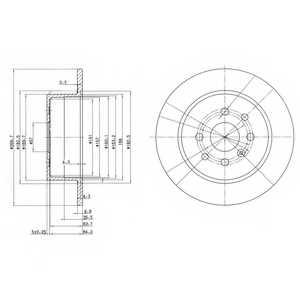 Тормозной диск DELPHI BG3141 - изображение