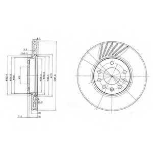 Тормозной диск DELPHI BG3142 - изображение
