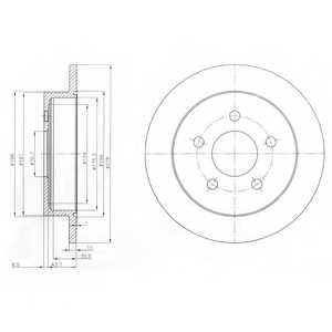 Тормозной диск DELPHI BG3143 - изображение