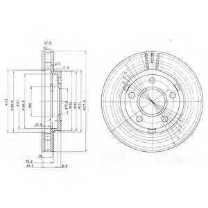 Тормозной диск DELPHI BG3144 - изображение