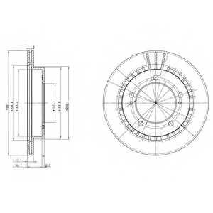 Тормозной диск DELPHI BG3158 - изображение