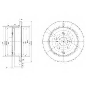 Тормозной диск DELPHI BG3166 - изображение