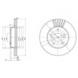 Тормозной диск DELPHI BG3171 - изображение