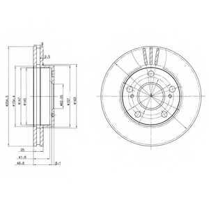 Тормозной диск DELPHI BG3172 - изображение
