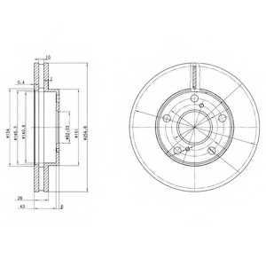 Тормозной диск DELPHI BG3177 - изображение