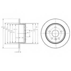 Тормозной диск DELPHI BG3178 - изображение