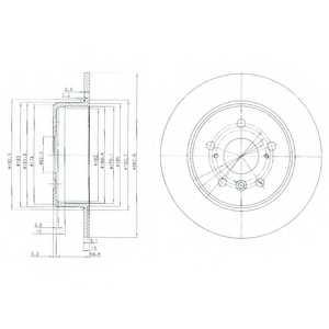 Тормозной диск DELPHI BG3183 - изображение