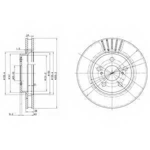 Тормозной диск DELPHI BG3187 - изображение