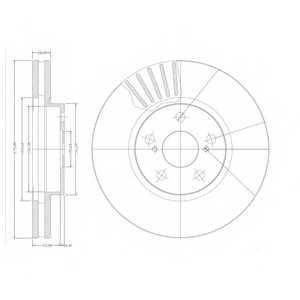 Тормозной диск DELPHI BG3189 - изображение