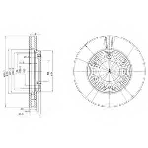 Тормозной диск DELPHI BG3193 - изображение
