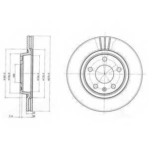 Тормозной диск DELPHI BG3198 - изображение
