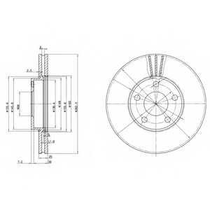 Тормозной диск DELPHI BG3199 - изображение