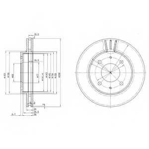 Тормозной диск DELPHI BG3202 - изображение