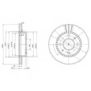Тормозной диск DELPHI BG3206 - изображение