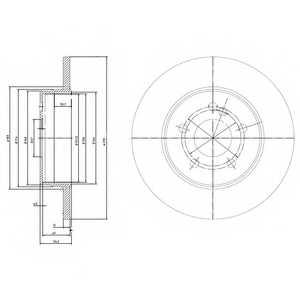 Тормозной диск DELPHI BG3208 - изображение