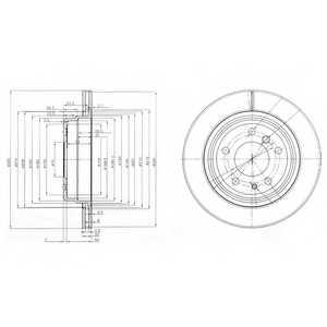 Тормозной диск DELPHI BG3214 - изображение