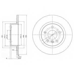 Тормозной диск DELPHI BG3227 - изображение