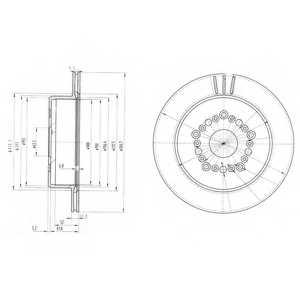 Тормозной диск DELPHI BG3230 - изображение