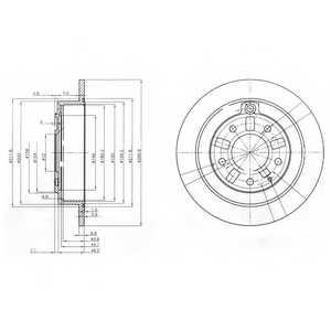 Тормозной диск DELPHI BG3231 - изображение
