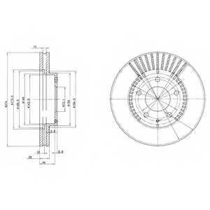 Тормозной диск DELPHI BG3232 - изображение