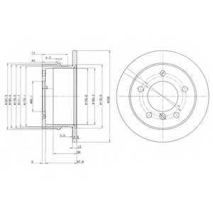 Тормозной диск DELPHI BG3235 - изображение