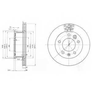 Тормозной диск DELPHI BG3236 - изображение