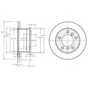 Тормозной диск DELPHI BG3237 - изображение