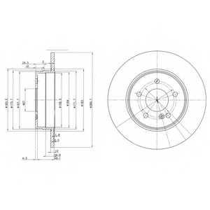 Тормозной диск DELPHI BG3239 - изображение
