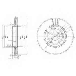 Тормозной диск DELPHI BG3240 - изображение