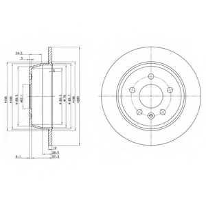 Тормозной диск DELPHI BG3241 - изображение