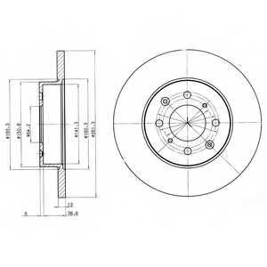 Тормозной диск DELPHI BG3262 - изображение