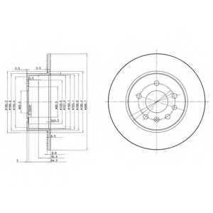 Тормозной диск DELPHI BG3274 - изображение