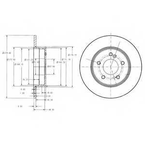 Тормозной диск DELPHI BG3326 - изображение