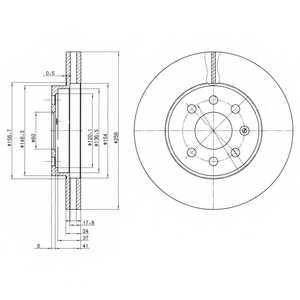 Тормозной диск DELPHI BG3334 - изображение