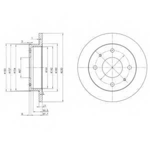 Тормозной диск DELPHI BG3337 - изображение