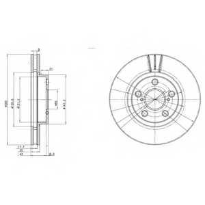 Тормозной диск DELPHI BG3347 - изображение