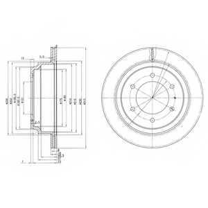 Тормозной диск DELPHI BG3353 - изображение