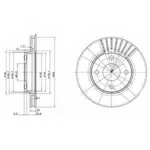 Тормозной диск DELPHI BG3359 - изображение