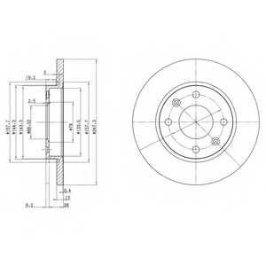 Тормозной диск DELPHI BG3364 - изображение