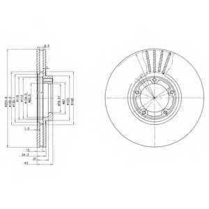 Тормозной диск DELPHI BG3365 - изображение