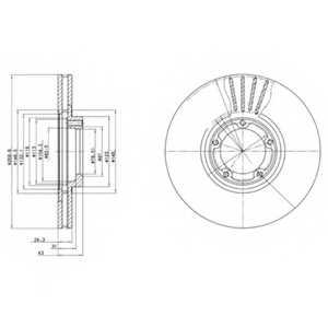 Тормозной диск DELPHI BG3366 - изображение