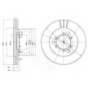 Тормозной диск DELPHI BG3378 - изображение