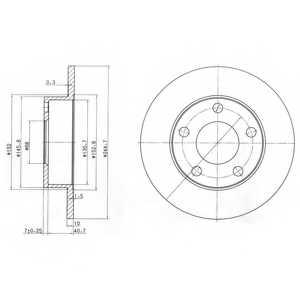 Тормозной диск DELPHI BG3381 - изображение