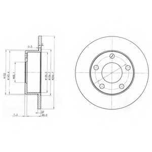 Тормозной диск DELPHI BG3382 - изображение
