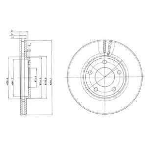 Тормозной диск DELPHI BG3383 - изображение