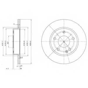 Тормозной диск DELPHI BG3394 - изображение