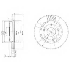 Тормозной диск DELPHI BG3395 - изображение
