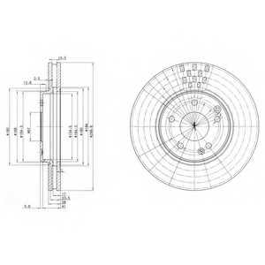 Тормозной диск DELPHI BG3396 - изображение