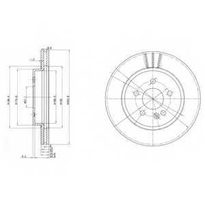 Тормозной диск DELPHI BG3397 - изображение